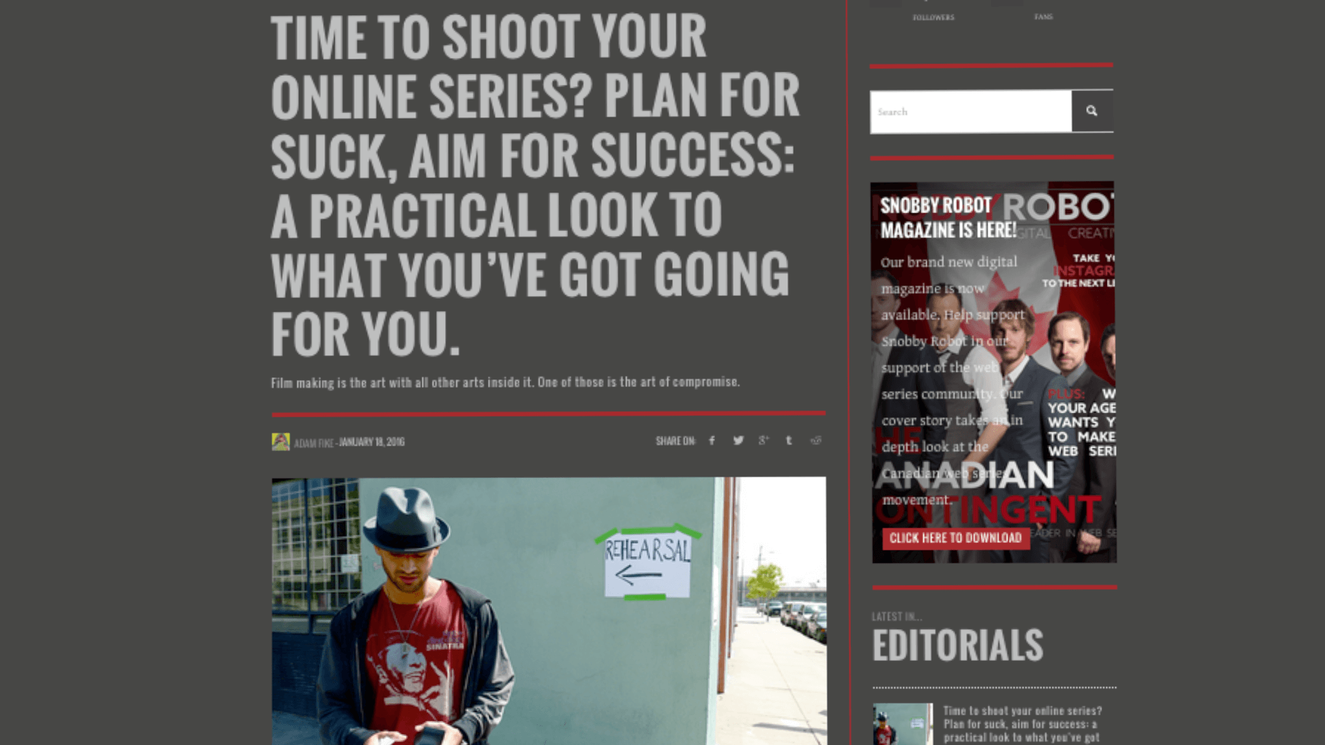 Filming your online series? Plan for suck, aim for success